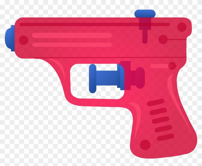 Banner Royalty Free Library Gun Clipart - Water Gun Clip Art - Png Download #46670