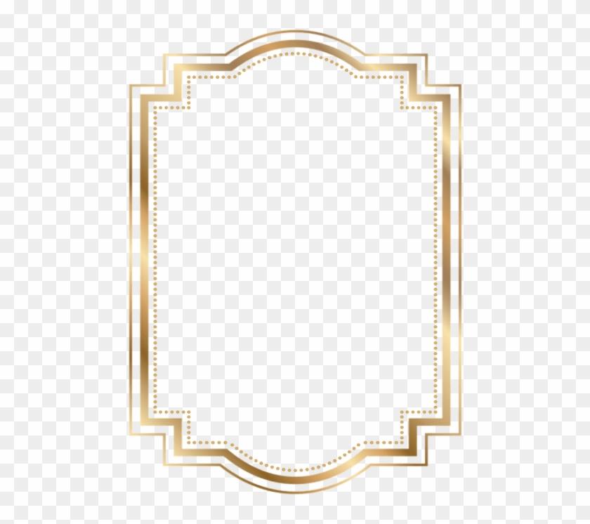 Free Png Download Border Frame Gold Transparent Clipart - Gold Border Png Free #402537