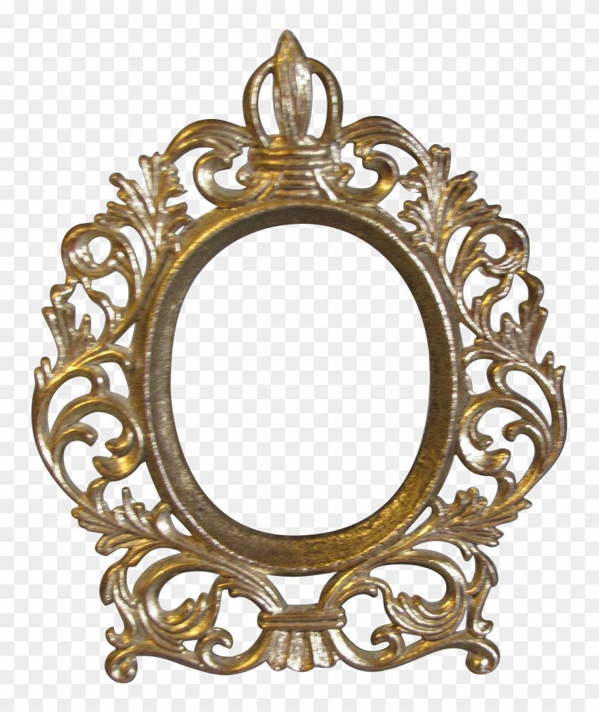 Vector Transparent Download Transparent Mirrors Gold Oval Vintage Frame Png Clipart 403065 Pikpng