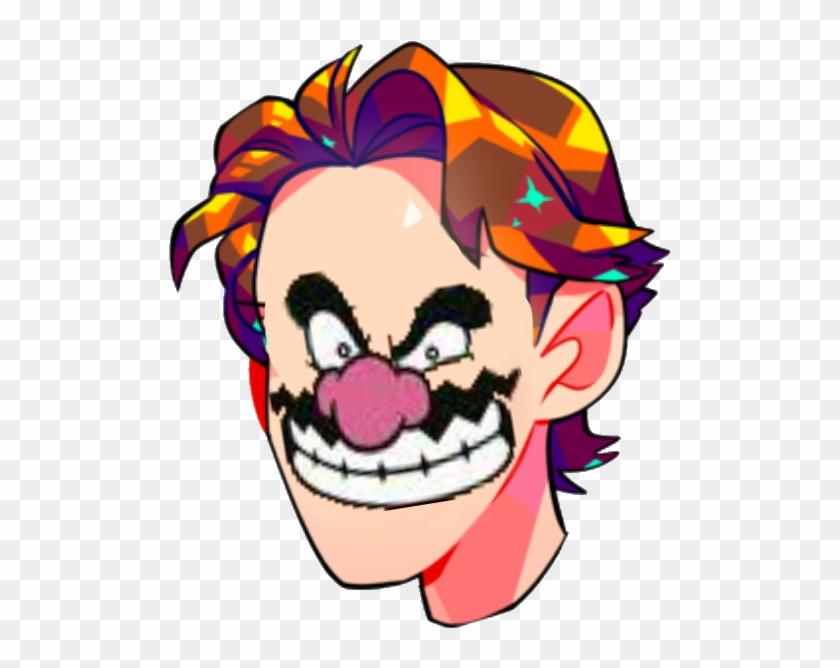 Face Nose Facial Expression Smile Clown Clip Art Head - Wario Transparent Face - Png Download #406923