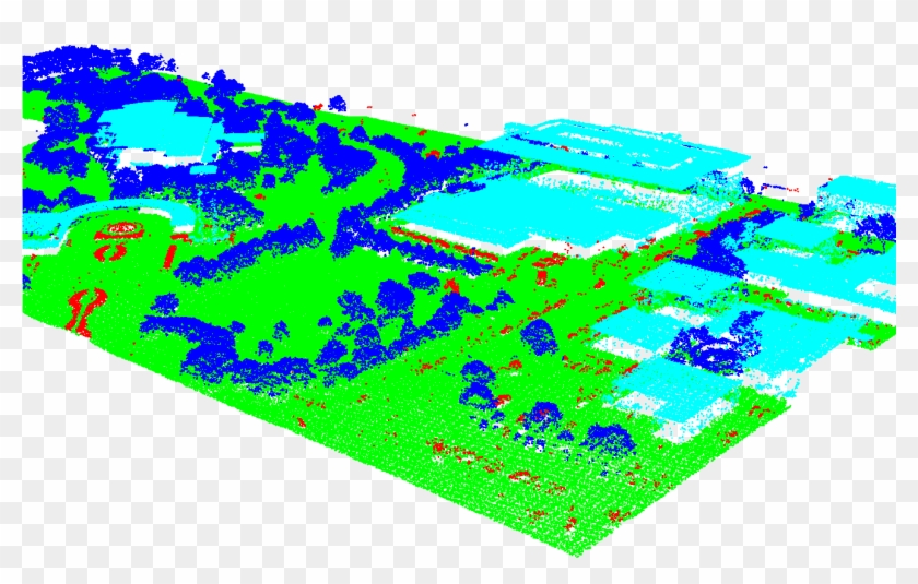2 Point Cloud Data Involved In The 2019 Data Fusion - Graphic Design Clipart #407421