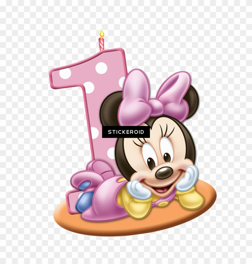 Minnie Mouse 1 Png - Baby Minnie Mouse 1st Clipart #4000017