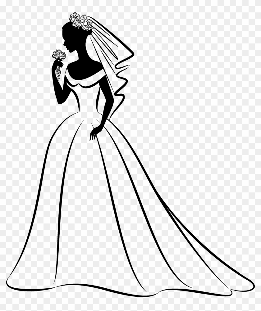Wedding Dress Clipart Png Download Bride Clipart Black And White Transparent Png 4013462 Pikpng