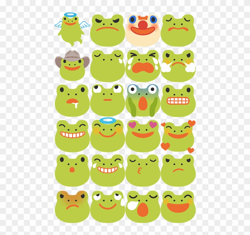 I Made A Small Collection Of Frog Emojis Free To Use, - Cartoon Clipart #4020723