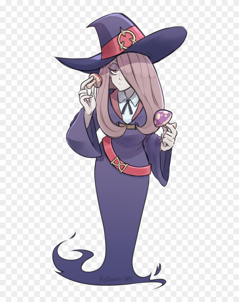 Little Witch Academia Sucy Png Svg Black And White Cartoon Clipart 4026887 Pikpng