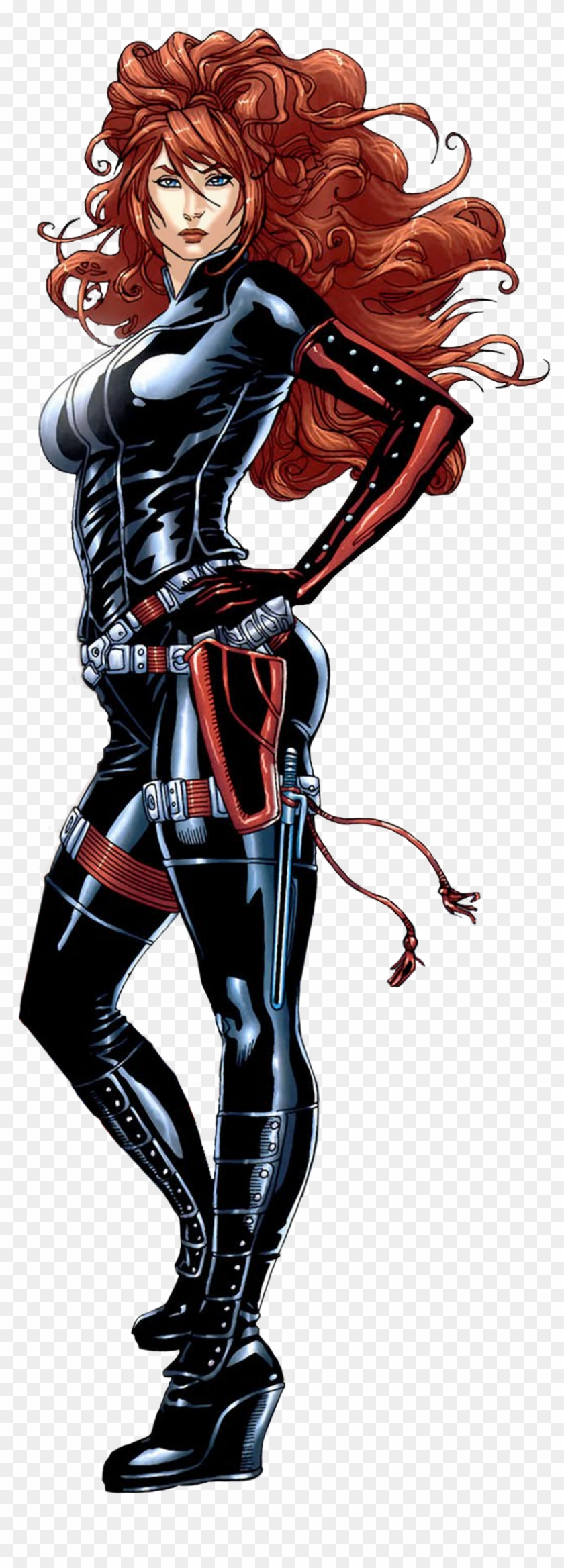 Black Widow From The Avengers - Comic Book Black Widow Transparent Clipart #4031448