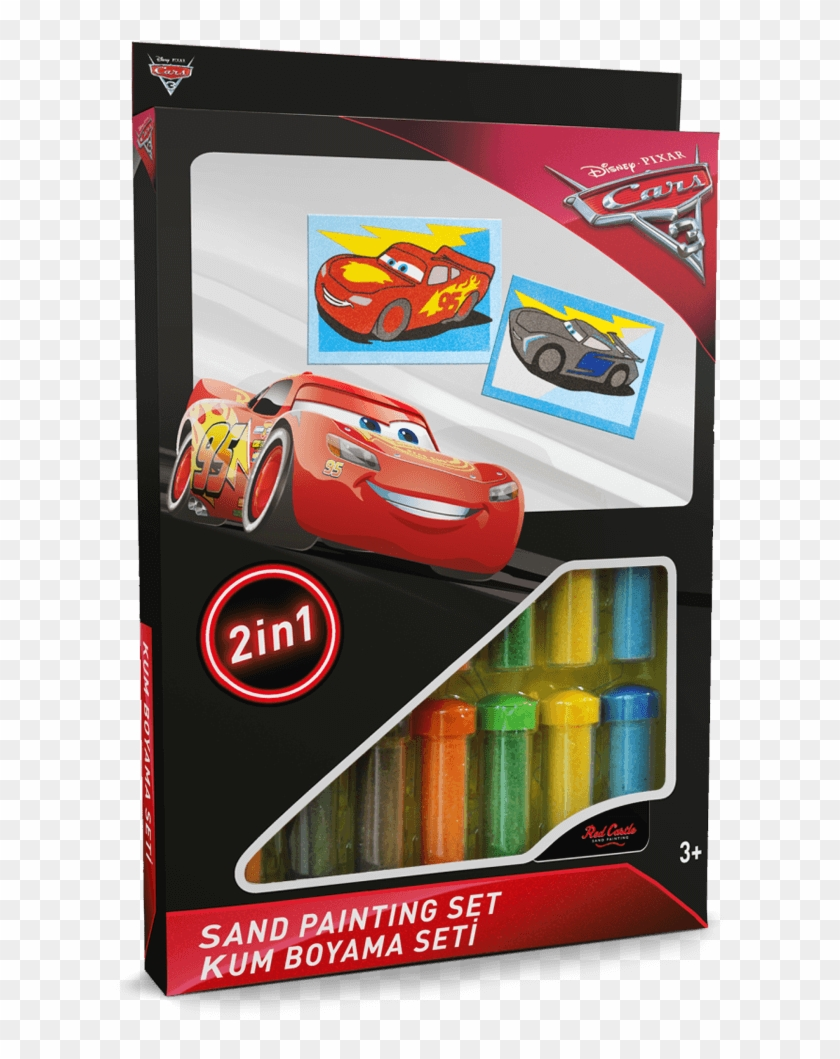 Lightning Mcqueen And Jackson Storm Sand Painting Set Cars 3