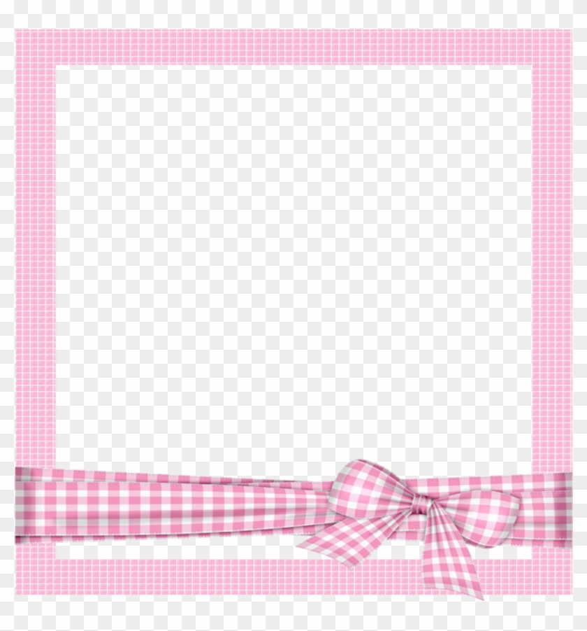 Mq Pink Bow Frame Frames Border Borders - Pink Cartoon Photo Frame Clipart #4033627