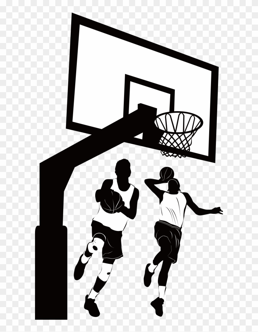 Image Picture Royalty Free Library Womens Clip Art - Playing Basketball Design - Png Download #4034421