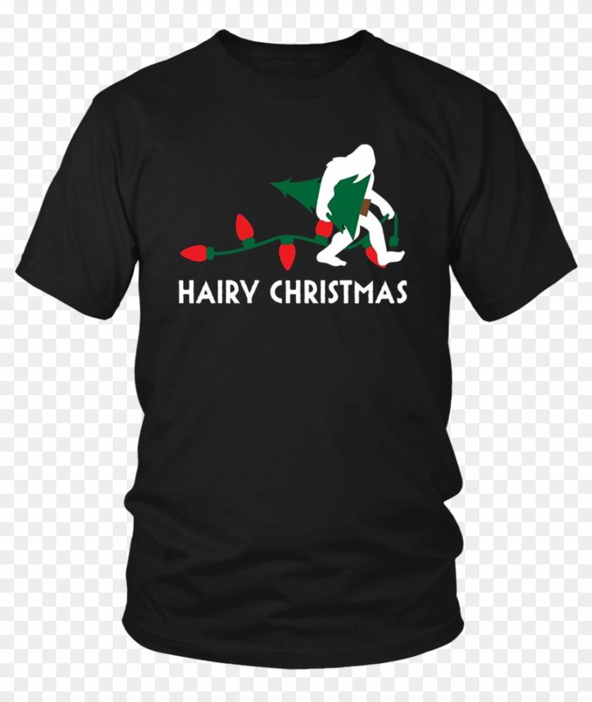 Bigfoot Hairy Christmas Tree Shirt Holiday Sasquatch - Larry Bernandez T Shirt Clipart #4037060