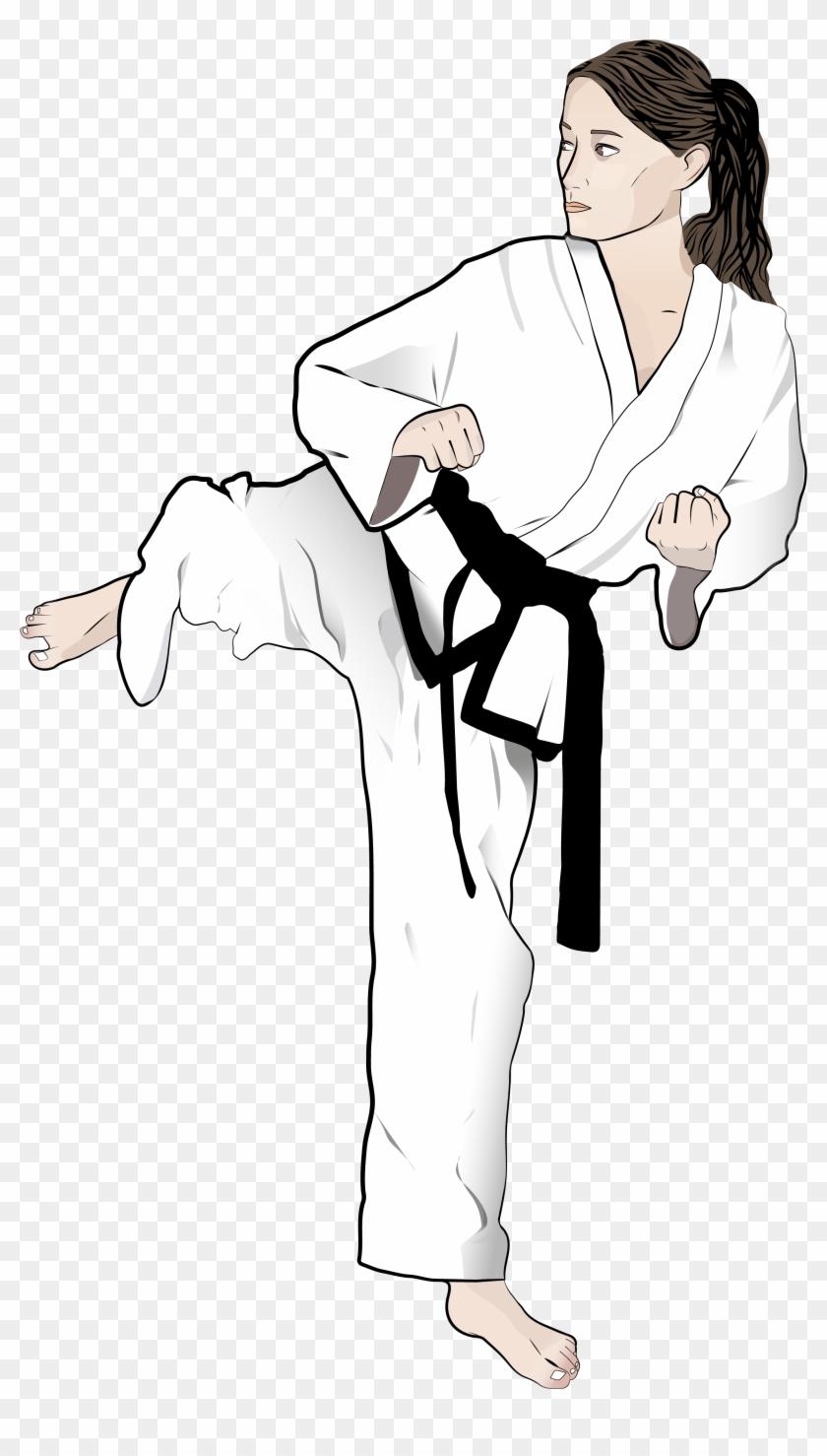 Taekwondo Drawing Martial Arts Karate Clipart 4038256 Pikpng