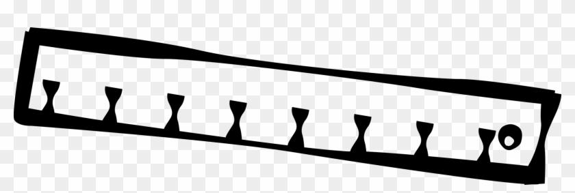 Vector Illustration Of Ruler, Rule Or Line Gauge Straight Clipart #4046919
