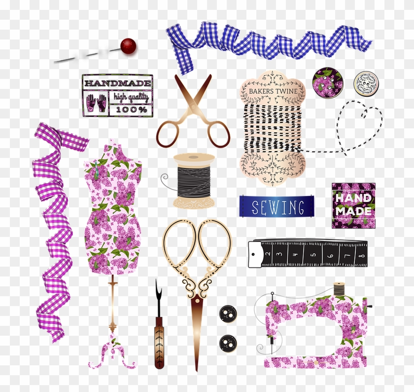 Sewing Buttons Sewing Notions Sewing Machine Buttons - Sewing Clipart #4051531