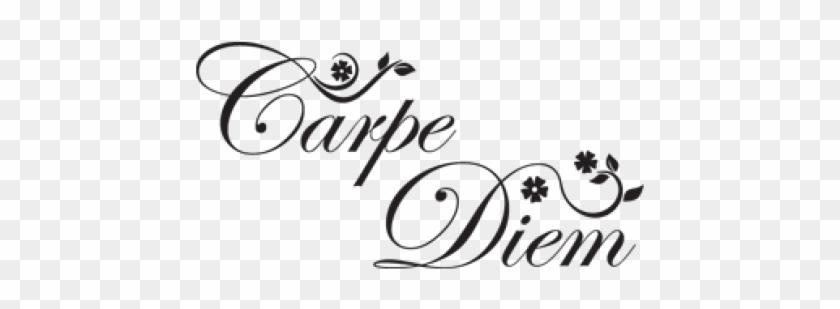 Tattoos Carpe Diem Flowers Idea For My Inside Right - Carpe Diem Tattoo With Flower Clipart #4060738