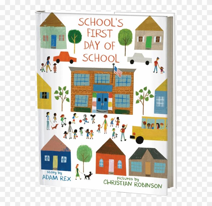 Schoolsfirstdayofschool - School's First Day Of School Book Clipart #4071591