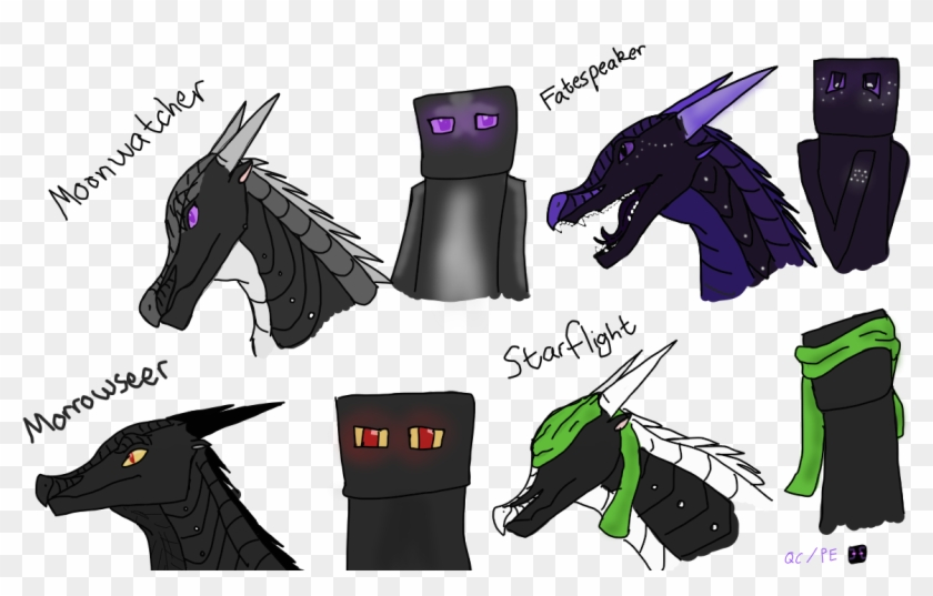 Minecraft Images Nightwings As Endermen Hd Wallpaper - Minecraft Fire Enderman Clipart #4077686