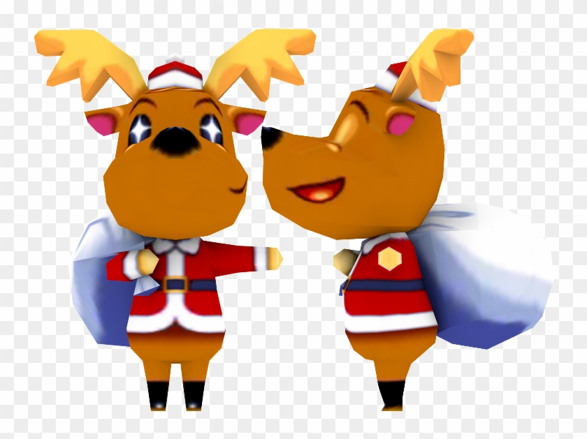 Reindeer Ornament Mascot - Animal Crossing 3d Characters Clipart #4078027