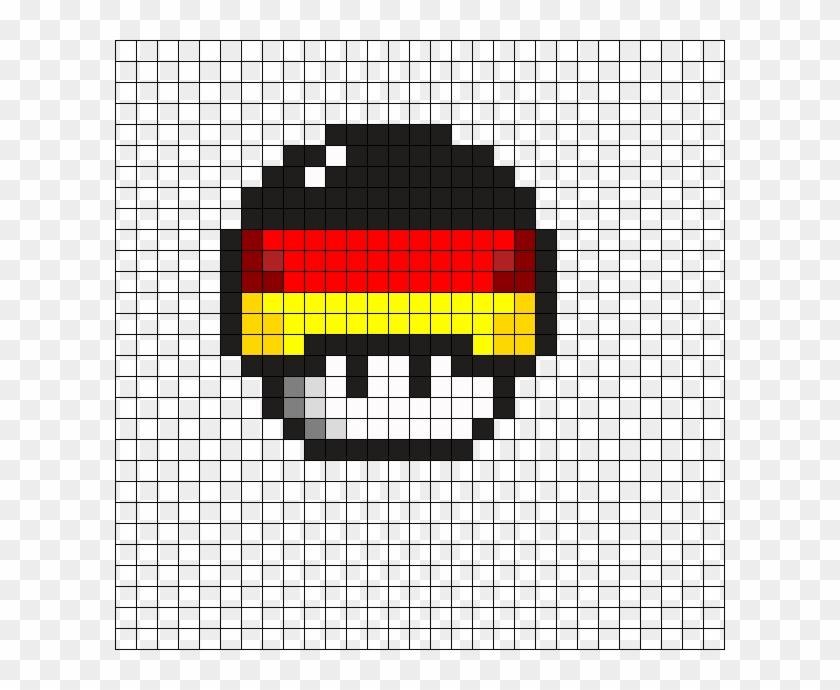 German Flag Mushroom Perler Bead Pattern Easy Pixel Art Mushroom