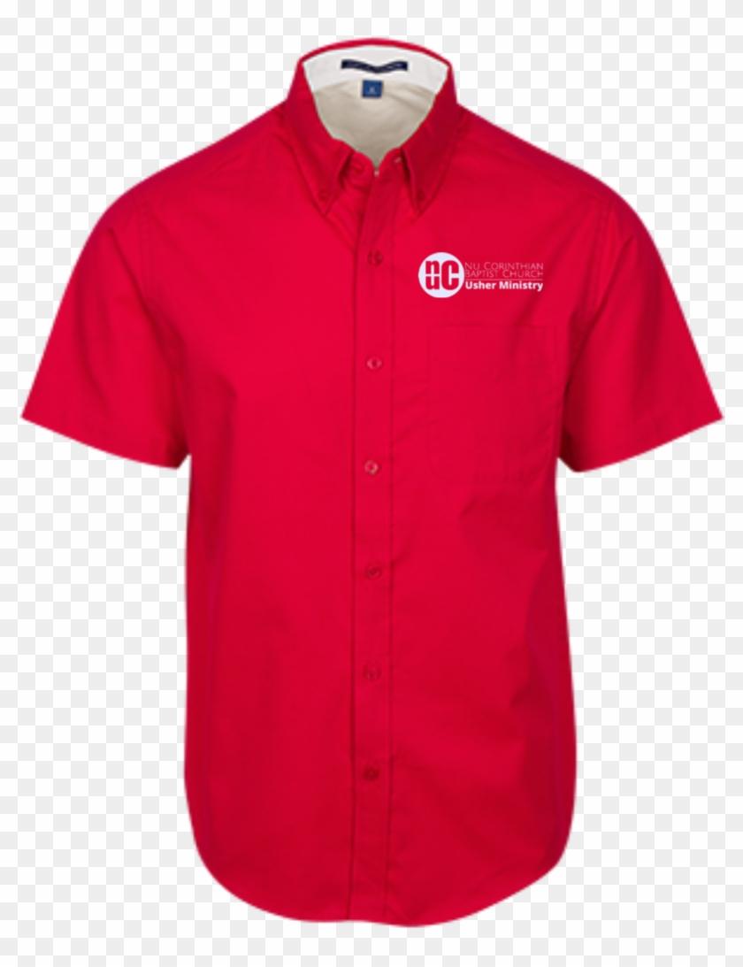 Men's Usher Short Sleeve Dress Shirt - Converse T Shirt Purple Clipart #4089669