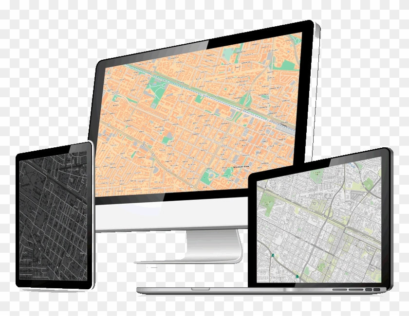 Let Us Help Your Business Embrace A Location Aware - Flat Panel Display Clipart #4094870