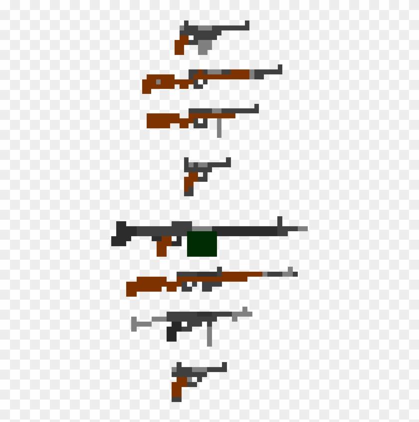 Guns Dots Game Sprites Pixel Characters Pixel Design