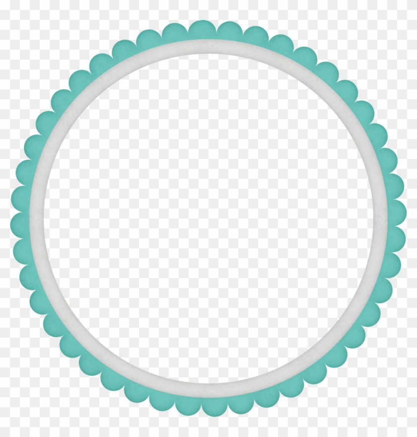 Turquoise Frame Transparent Background Png - Simple Circle Border Png Clipart #4098965
