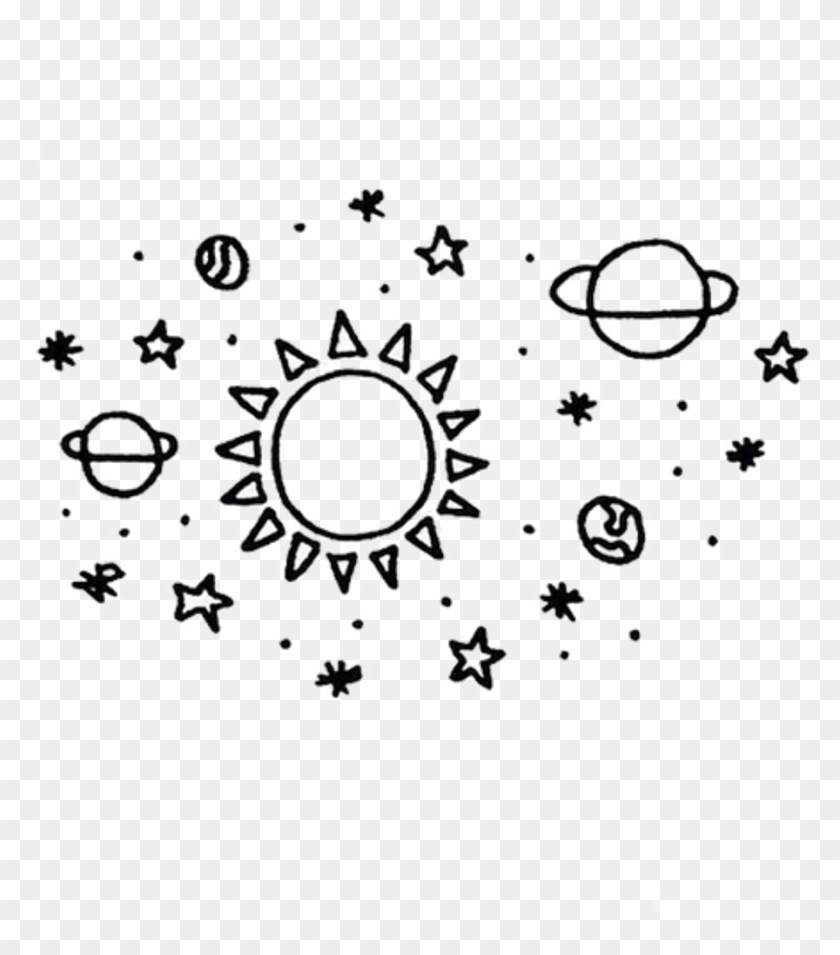 Planet Transparent Tumblr Planet Drawing Clipart 411707 Pikpng