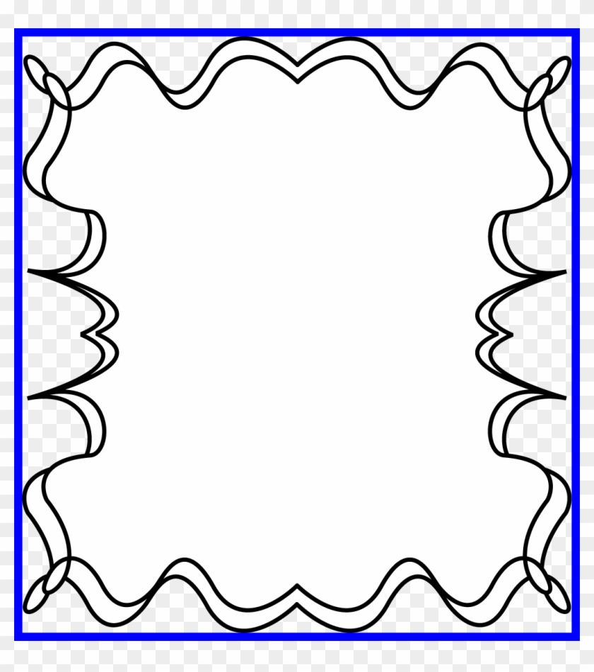16 Ideas Of Star Clipart Black And White Outline - Border Picture Frame Halloween - Png Download #418925
