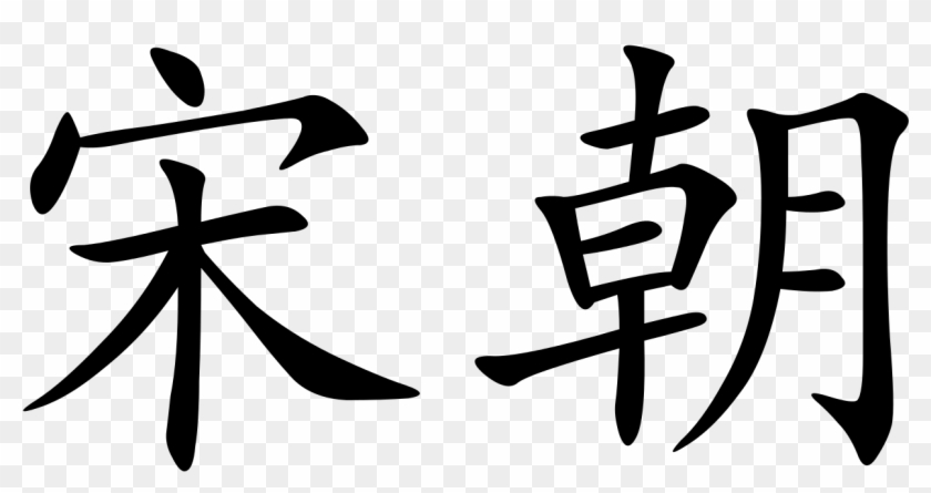Song Dynasty - Song Dynasty In Chinese Characters Clipart #4100228