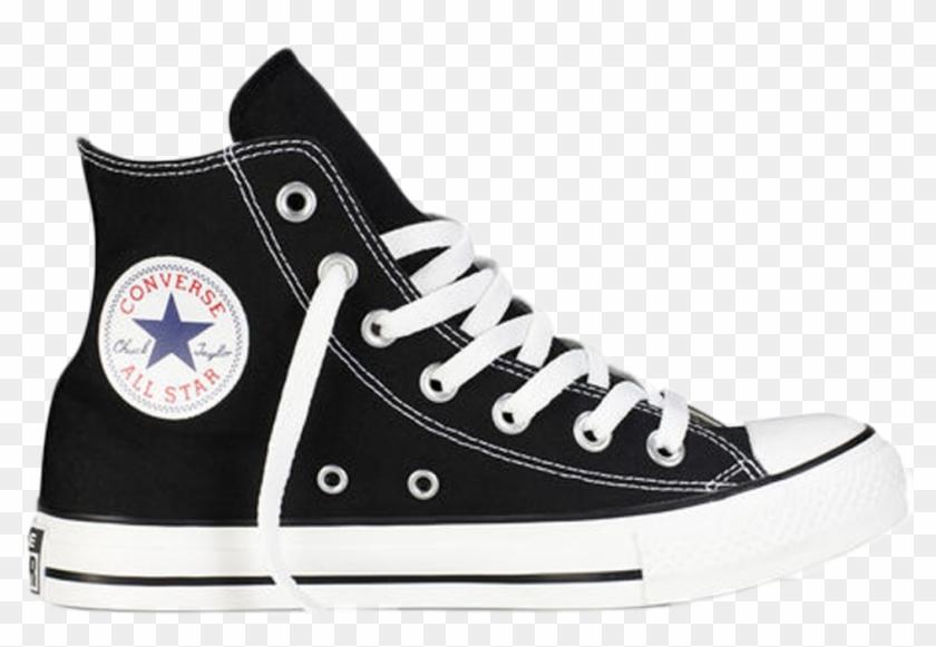 Converse All Star Hi Black White - Converse Classic Clipart #4104826