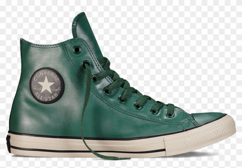 Converse Clipart Rubber Shoe - Green Leather Converse Hi Tops - Png Download #4105098