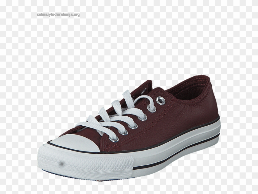 Women's Converse All Star Leather-ox - Sneakers Clipart #4105221