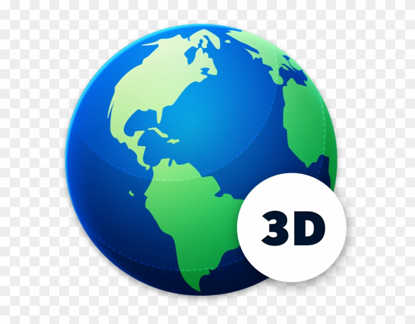 Globe Geography 3d 4 World Map Clipart 4107476 Pikpng