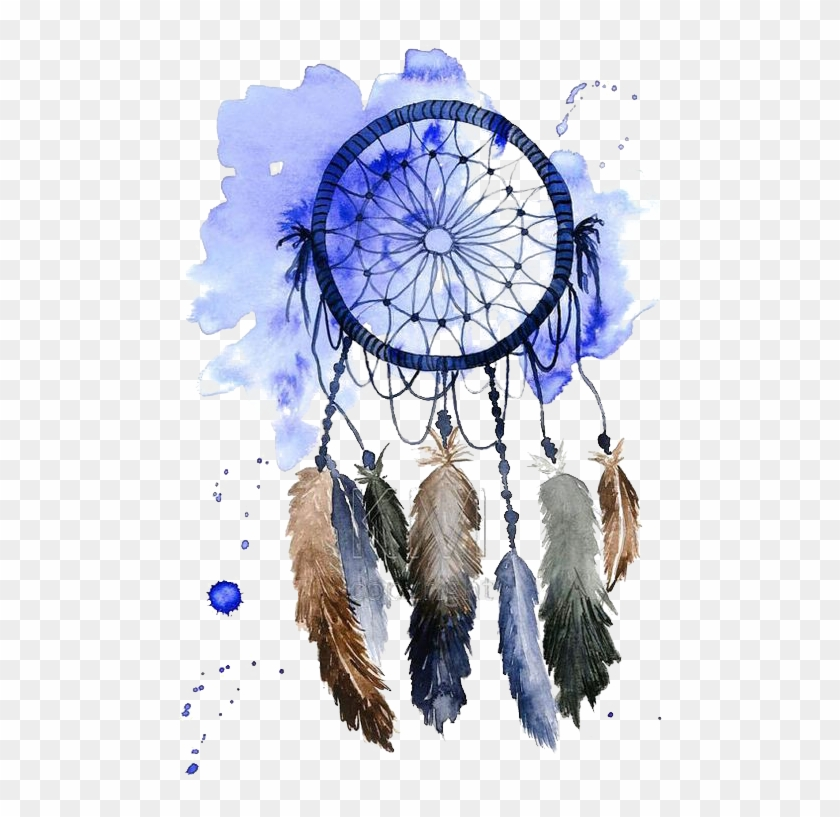 Courage Drawing Boho Dreamcatcher - Blue Dream Catcher Png Clipart #4109272