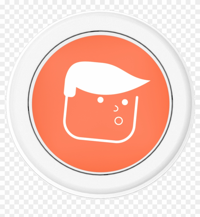 The Donald Trump Button - Cartoon Clipart #4110803