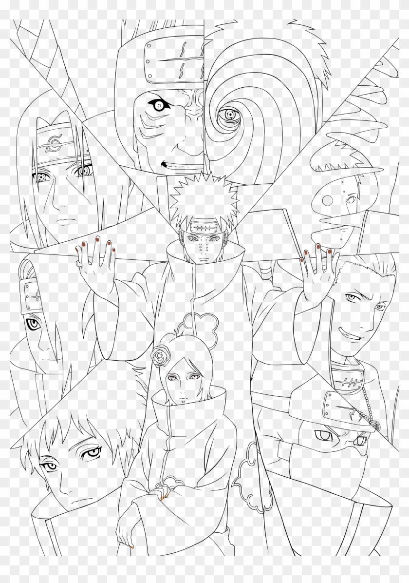 Naruto Kakashi Coloring Page - Kakashi Hatake Coloring Pages ... | 1196x840