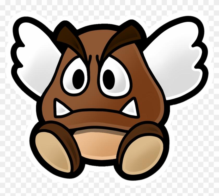 Super Paper Mario Paragoomba Png Download Paper Mario Color Splash Enemies Clipart 4118010 Pikpng