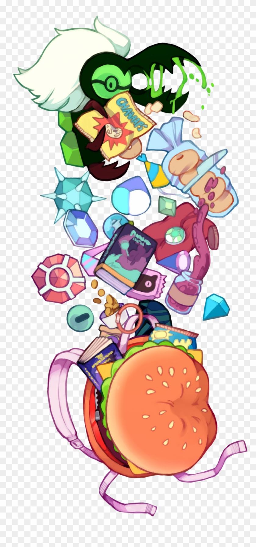 Su Steven Universe Cookie Cat Cheeseburger Backpack - Steven Universe Corrupted Gems Fanart Clipart #4118516