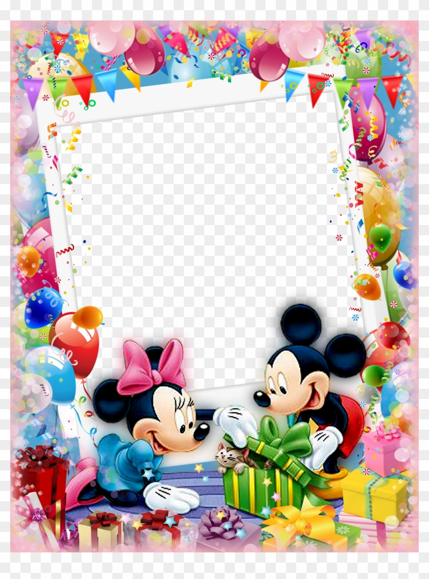 Mickey Mouse And Friends, Mickey Minnie Mouse, Disney - Border Birthday Photo Frames Clipart #4119247