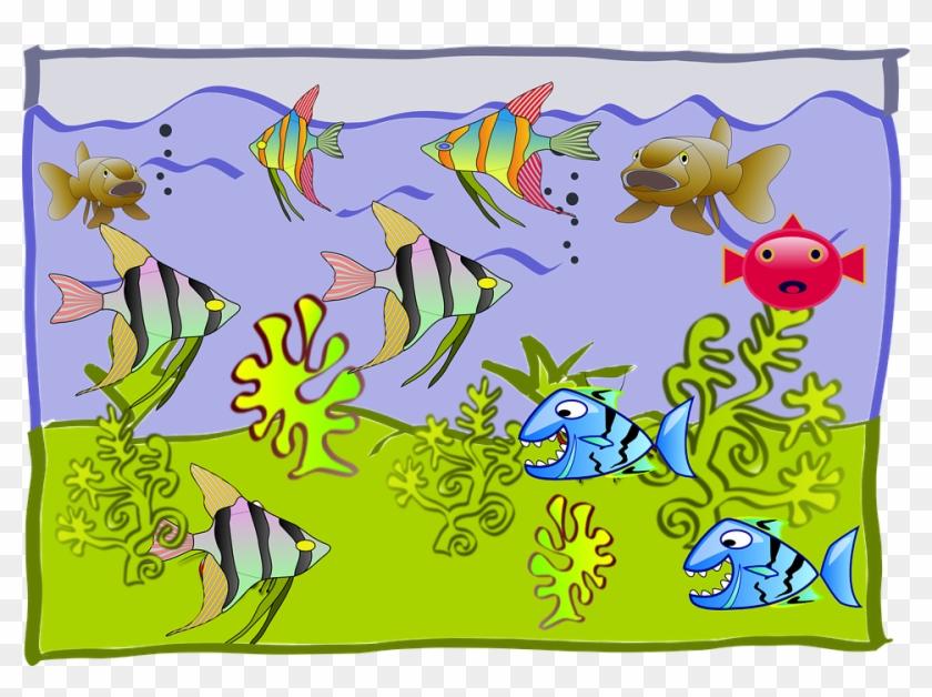 Como Se Sentirán Vivindo Tan Lonxe Da Súa Casa - Drawing On Fish Tank Clipart #4120655