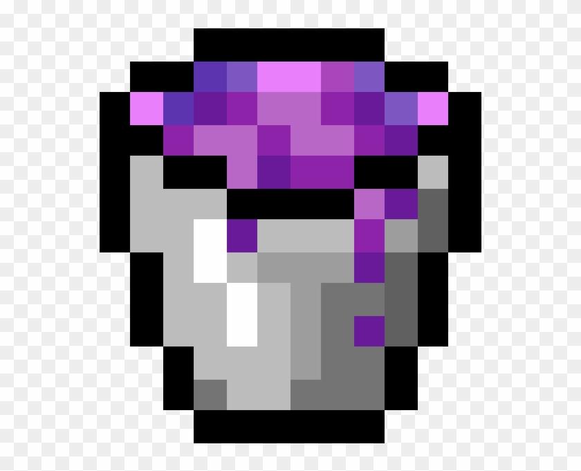 Random Image From User - Minecraft Bucket Pixel Art Clipart #4127915