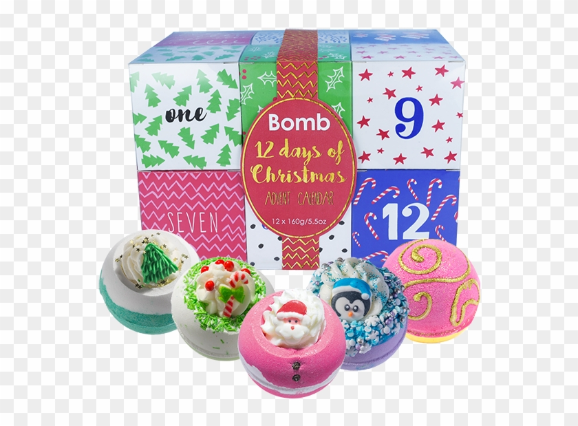 Bomb Cosmetics 12 Days Of Christmas Advent Calendar - Bomb Cosmetics 12 Days Of Christmas Clipart #4131833