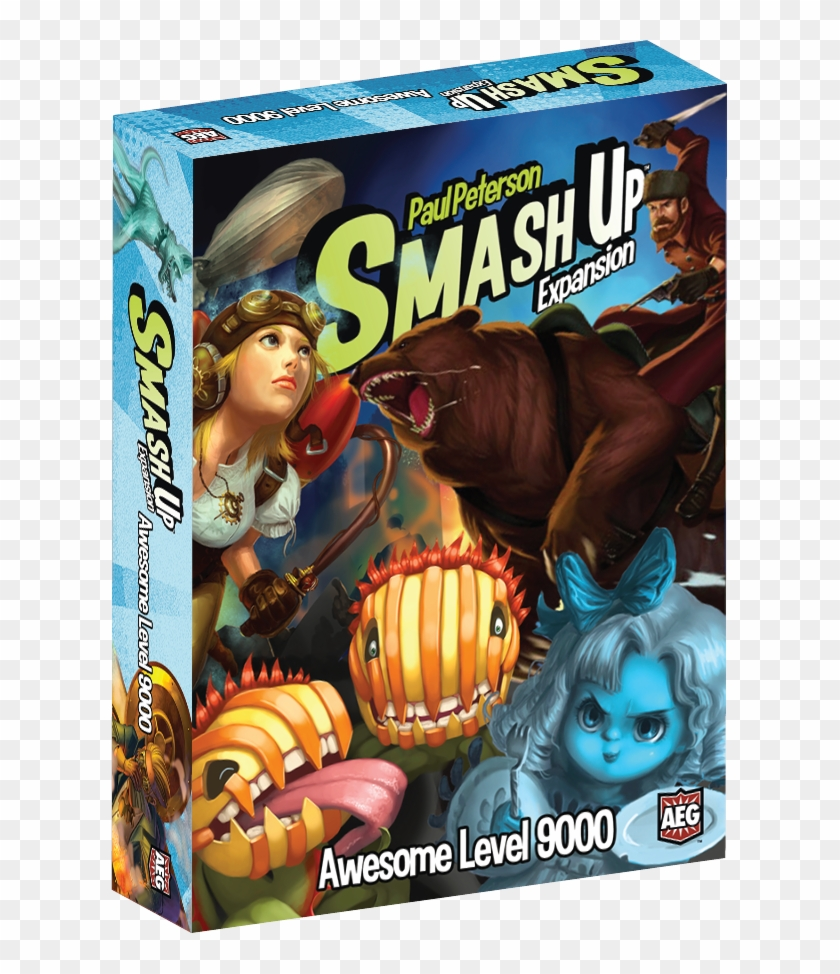 Awesome Level 9000 Expansion Features 4 All-new Distinct - Smash Up Awesome Level 9000 Clipart #4138331