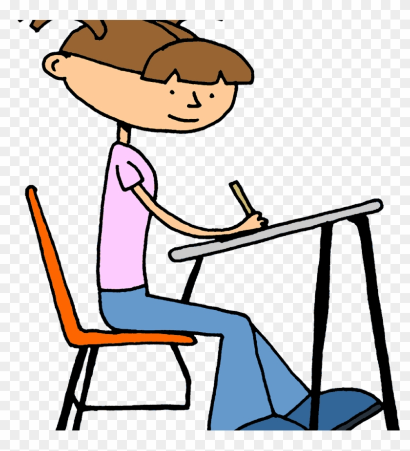 Student Working Clipart Baby Clipart Hatenylo - Student Working Clip Art - Png Download #4145749