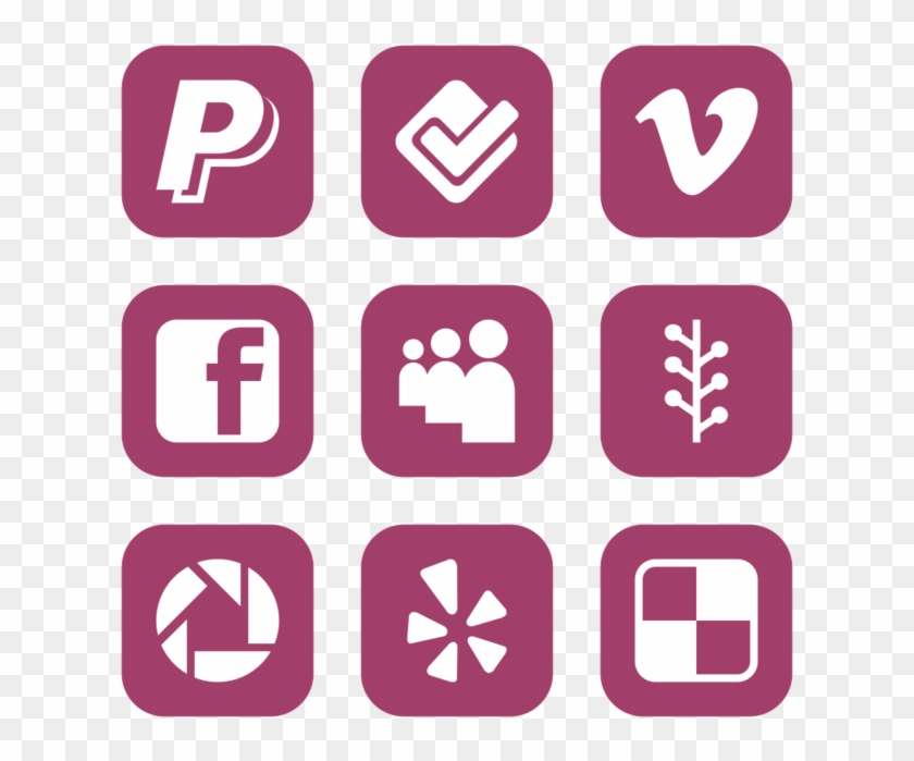 Social Media Icon In Style Flat Rounded Square White - Icon Clipart #4150922