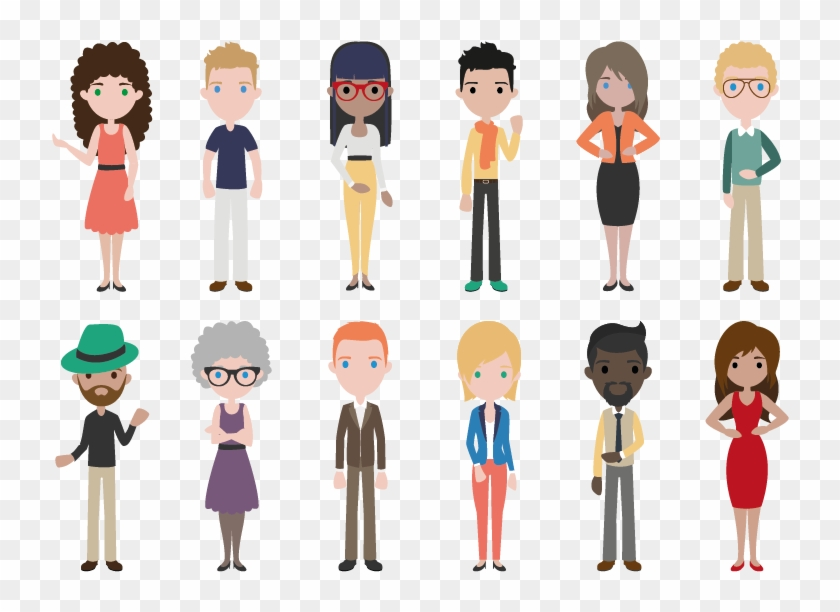 People Flat Design Png Clipart #4151370