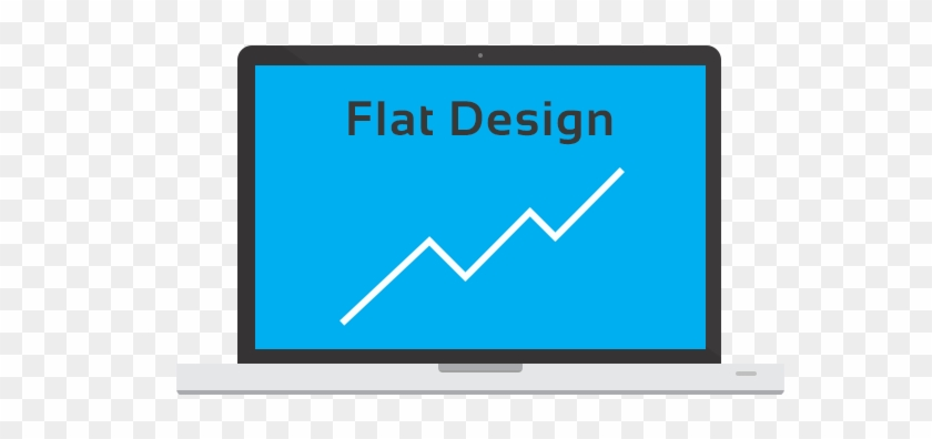 Flat Design Is More Than Just A Trend - Led-backlit Lcd Display Clipart #4151946