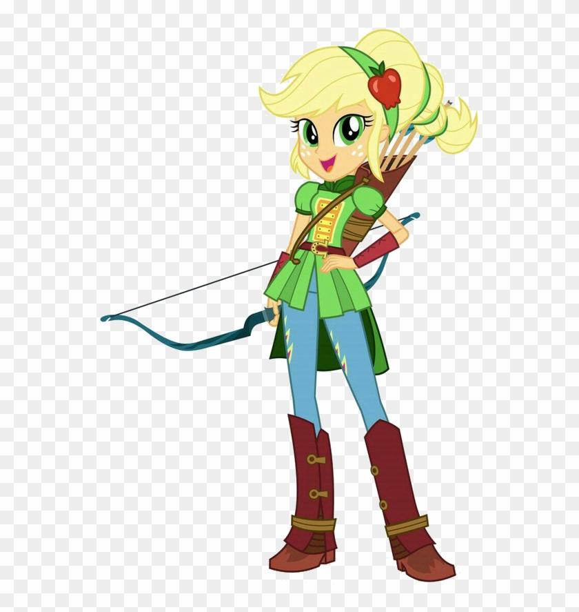 Alternate Hairstyle, Applejack, Archery, Arrow, Arrows, - Mlp Eg Friendship Games Applejack Clipart #4154380