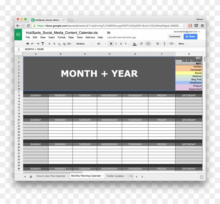 Full Size Of 10 Ready To Go Marketing Spreadsheets - Social Media Calendar Template Google Sheets Clipart #4156868