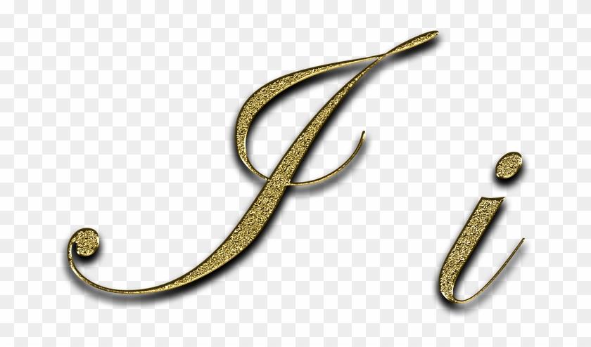 Letter, I, Gold, Font, Letter I, Leave, Type, Fonts - Font Clipart #4165189